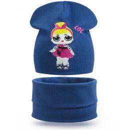 Комплект шапка и шарф снуд для девочки Girl