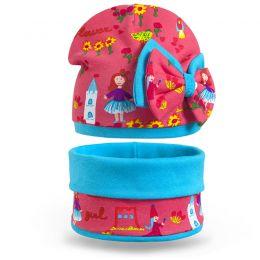 Комплект шапка и шарф снуд для девочки Принцесса №1