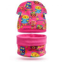 Комплект шапка и шарф снуд для девочки Совята