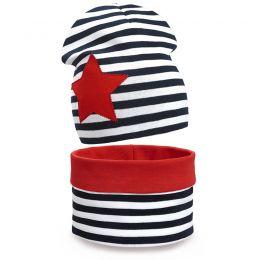 Комплект шапка и шарф снуд для девочки Звезда