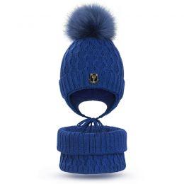 Комплект шапка и шарф снуд для мальчика №1