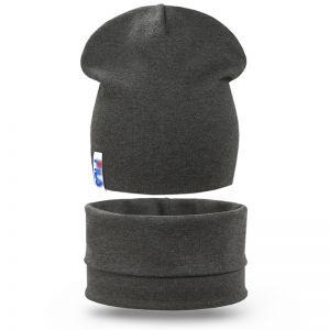 Комплект шапка и шарф снуд для мальчика FL