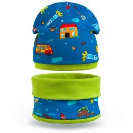 Комплект шапка и шарф снуд для мальчика Город