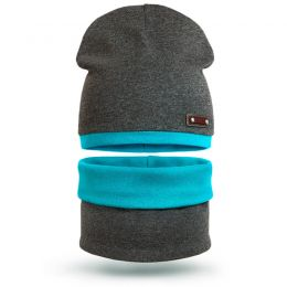Комплект шапка и шарф снуд для мальчика Sport