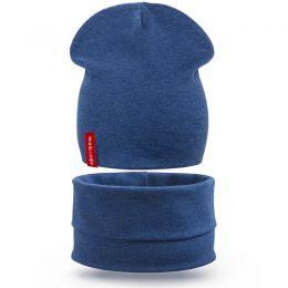 Комплект шапка и шарф снуд для мальчика Супер №2