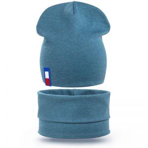 Комплект шапка и шарф снуд для мальчика TM