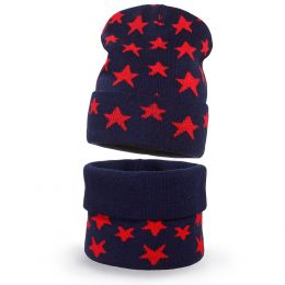 Комплект шапка и шарф снуд вязанный