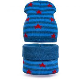 Комплект шапка и шарф снуд вязанный Звезда №2