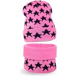 Комплект шапка и шарф снуд вязанный для девочки №2