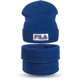 Комплект шапка и шарф снуд вязанный для мальчика FL