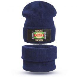 Комплект шапка и шарф снуд вязанный для мальчика GG