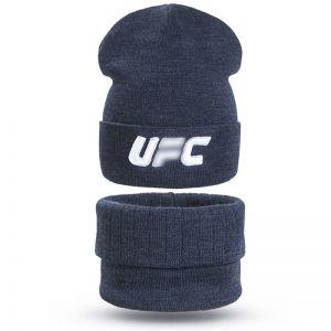 Комплект шапка и шарф снуд вязанный для мальчика UC