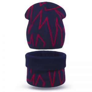 Комплект шапка и шарф-хомут для мальчика ZIG