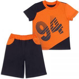 Костюм летний для мальчика 94 оранжевый