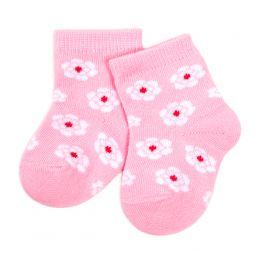 Носки для новорожденного Цветочки