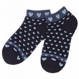 Носки махровые детские укороченные Сердечки