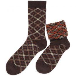 Носки махровые мужские Клетка