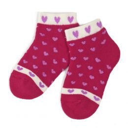 Носки махровые ясельные Сердечки