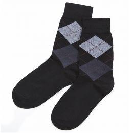 Носки мужские Клетка №1 черный