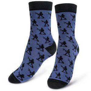Носки мужские Солдаты голубой