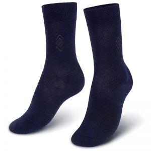 Носки мужские с ажурной вставкой №1 синий