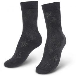 Носки мужские с ажурной вставкой Ромб