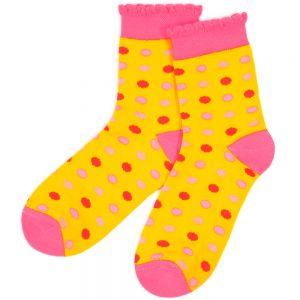 Носки подростковые Горох с ажурным бортом
