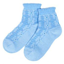 Носки подростковые с ажурной вставкой