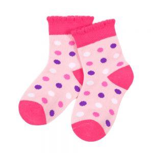 Носки ясельные Горох с ажурным бортом