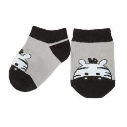 Носки ясельные Зебра №2 серый