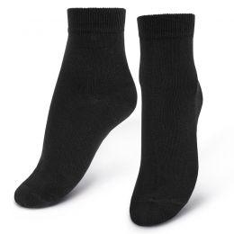 Носки женские однотонные черные