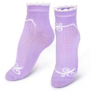 Носки женские с ажурной вставкой