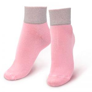 Носки женские с люрексом розовый