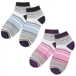 Носки женские укороченные Полосатики №4