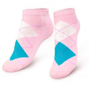 Носки женские укороченные Ромбы розовый