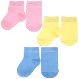 Носочки для новорожденного однотонные