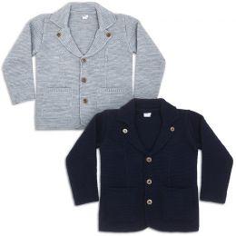 Пиджак для мальчика вязаный