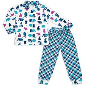 Пижама детская на кнопках Медведи