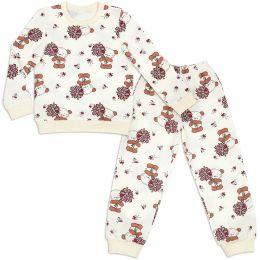 Пижама детская теплая Снеговик