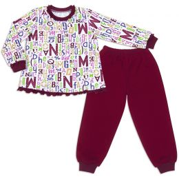 Пижама для девочки Буквы