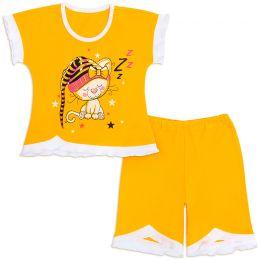 Пижама для девочки Засыпайка желтый