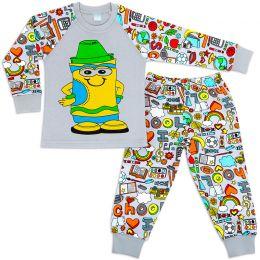 Пижама для мальчика интерлок №17