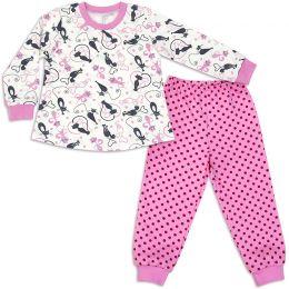 Пижама теплая для девочки Кошки