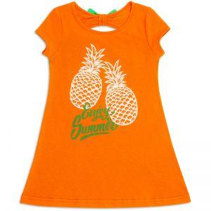 Платье для девочки Ананас оранжевый