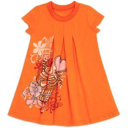 Платье для девочки Десерт оранжевый
