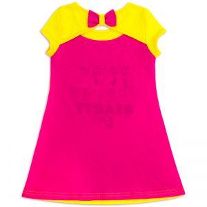 Платье для девочки Киски желтый