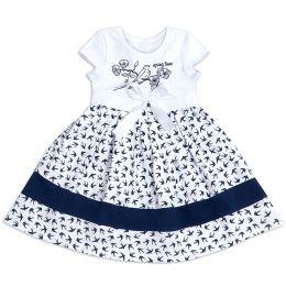 Платье для девочки Ласточки на белом