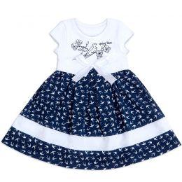 Платье для девочки Ласточки на синем