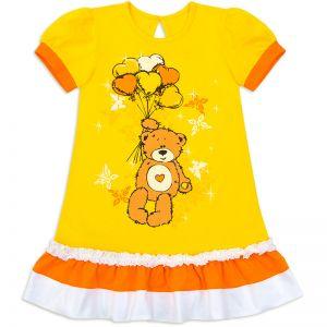 Платье для девочки Мишка №2