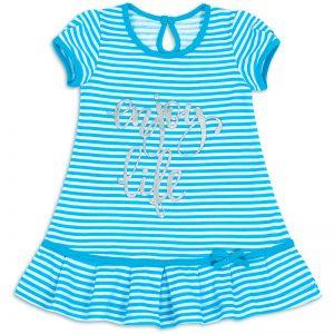 Платье для девочки Полоска голубой